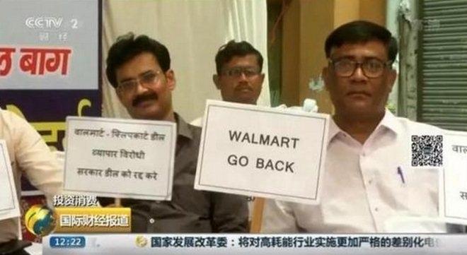 """沃尔玛成功收购印度的""""阿里"""" 但6000万小商贩不乐意了"""